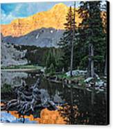 Little Bear Peak And Lake Como Canvas Print by Aaron Spong