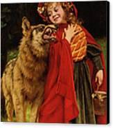 Little Red Riding Hood Canvas Print by Gabriel Joseph Marie Augustin Ferrier