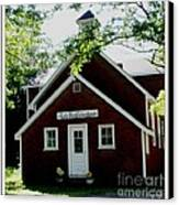 Little Red Schoolhouse Canvas Print by Gail Matthews