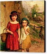 Little Villagers Canvas Print by George Smith