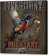 Live To Hunt Pheasants Canvas Print