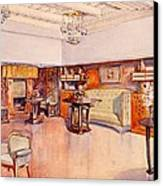 Living Room, 1905 Canvas Print by Alfred Grenander