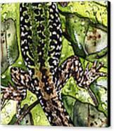 Lizard In Green Nature - Elena Yakubovich Canvas Print