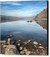 Llanberis Lake Canvas Print by Adrian Evans