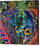 Llullon Llaki Supai Canvas Print by Pablo Amaringo