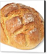 Loaf Of Bread On White Canvas Print
