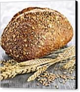 Loaf Of Multigrain Bread Canvas Print by Elena Elisseeva