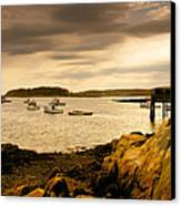 Lobster Boats Cape Porpoise Maine Canvas Print