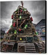 Lobster Trap Tree Canvas Print by Eric Gendron