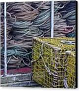 Lobster Traps And Ropes Canvas Print by Stuart Litoff