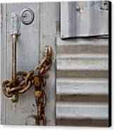 Locked Canvas Print by Peter Tellone
