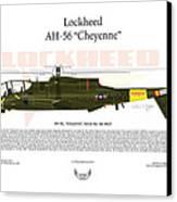 Lockheed Ah-56 Cheyenne Canvas Print by Arthur Eggers