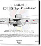 Lockheed Ec-121q Gold Diggers Canvas Print by Arthur Eggers