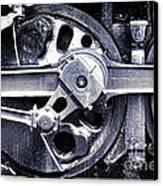 Locomotive Drive Wheels Canvas Print by Olivier Le Queinec