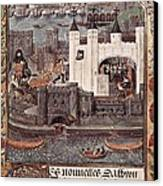 London And The Thames 15th C.. Gothic Canvas Print by Everett