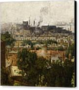 London And The Thames From Greenwich Canvas Print by John Auld