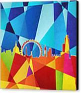 London England Skyline Canvas Print by Michael Tompsett