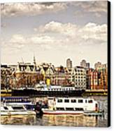 London From Thames River Canvas Print