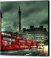 London Red Buses And Routemaster Canvas Print by Jasna Buncic