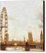 London Skyline At Dusk 01 Canvas Print by Pixel  Chimp