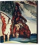 Lone Wolf Canvas Print by Kendra Sorum