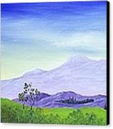 Lonely Mountain Canvas Print by Anastasiya Malakhova