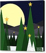 Long Night Moon Canvas Print by Val Arie