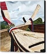 Long Tail Boats Of Krabi Canvas Print