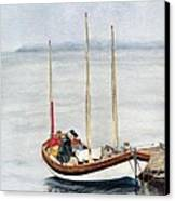 Longboat Canvas Print by Sandy Linden