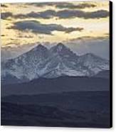 Longs Peak 3 Canvas Print by Aaron Spong