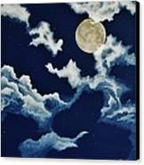 Look At The Moon Canvas Print by Katherine Young-Beck