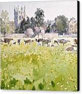 Looking Across Christ Church Meadows Canvas Print