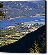 Looking Down On Sandpoint Canvas Print