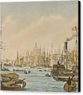 Looking Towards London Bridge Canvas Print by William Parrot