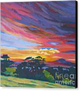 Looking West From Amador Hills Canvas Print by Vanessa Hadady BFA MA