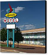 Lorraine Motel Sign Canvas Print by Joshua House