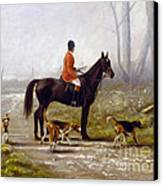 Losing The Scent Canvas Print by John Silver