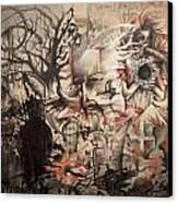 Lost In The Dark Canvas Print by Henry Keller