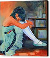 Lost In Thought Canvas Print by Sue  Darius