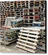 Lots Of Pallets Canvas Print by Olivier Le Queinec