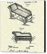 Lounge 1890 Patent Art Canvas Print by Prior Art Design