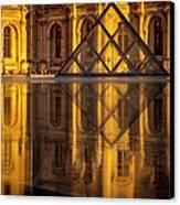 Louvre Sunset Canvas Print