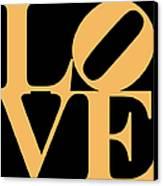 Love 20130707 Orange Black Canvas Print