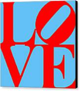Love 20130707 Red Blue Canvas Print by Wingsdomain Art and Photography