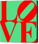 Love 20130707 Red Green Canvas Print