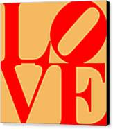 Love 20130707 Red Orange Canvas Print by Wingsdomain Art and Photography