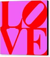 Love 20130707 Red Violet Canvas Print