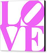 Love 20130707 Violet White Canvas Print