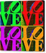 Love 4 Philadelphia - Painterly V4 Canvas Print by Wingsdomain Art and Photography