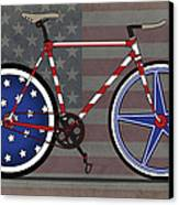 Love America Bike Canvas Print by Andy Scullion